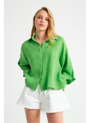 Robin Gömlek Yeşil
